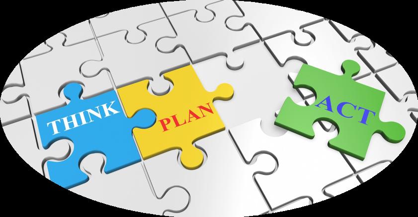 pensar,planear, hacer